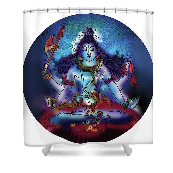 Samadhi Shiva Shower Curtain