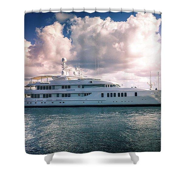 Samadhi Yacht Shower Curtain