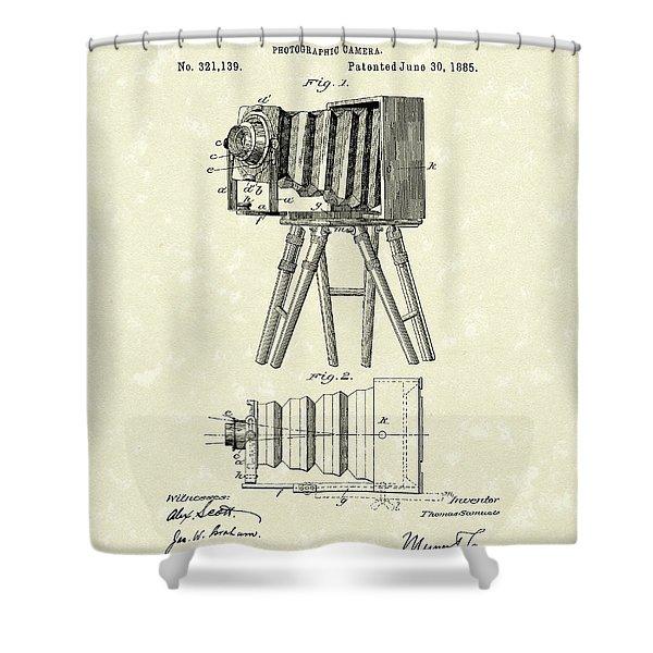 Samuels Photographic Camera 1885 Patent Art Shower Curtain