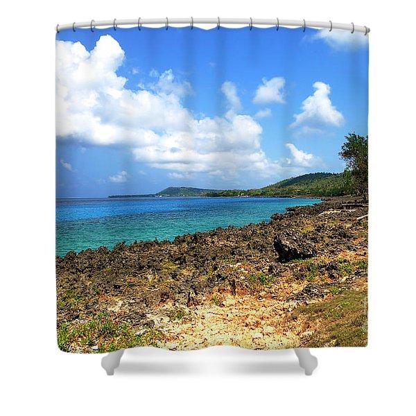 San Andres Island Seascape Shower Curtain
