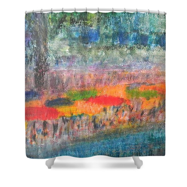 San Antonio By The River II Shower Curtain