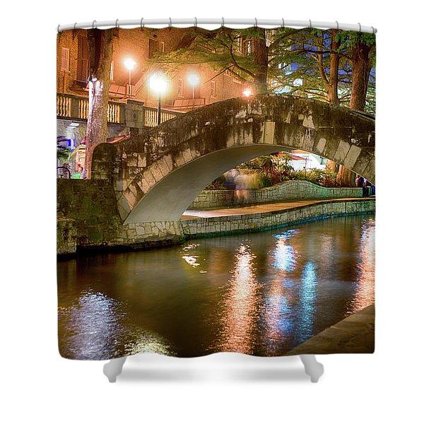 San Antonio River Walk V1 Shower Curtain