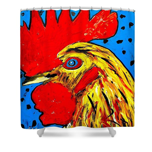 San Antonio Rooster Shower Curtain