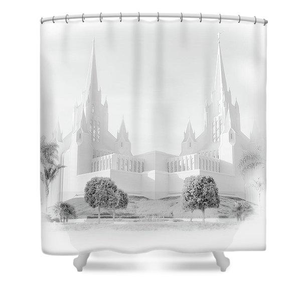 San Diego Lds Temple Shower Curtain