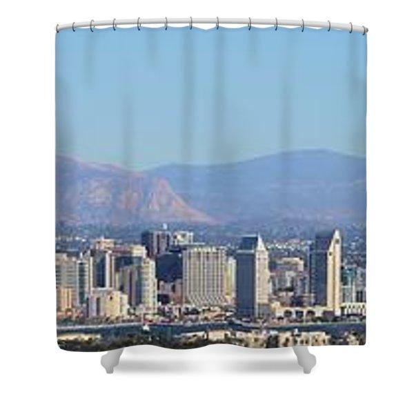 San Diego Pano Shower Curtain