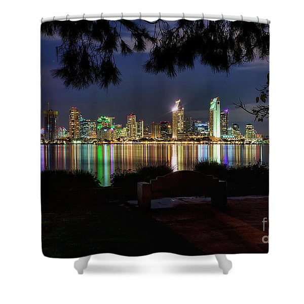 San Diego Skyline Shower Curtain