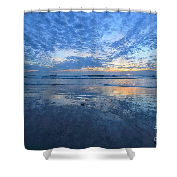 Blue Heaven Cardiff By The Sea Shower Curtain