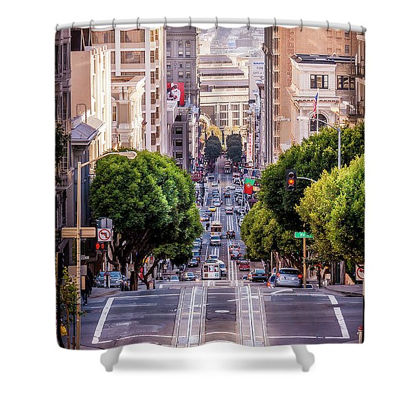 San Fran Cable Car Shower Curtain