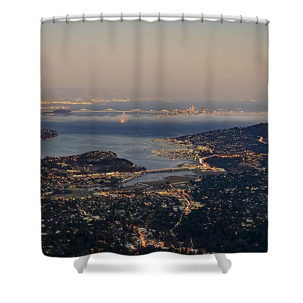 San Francisco Bay Area Shower Curtain