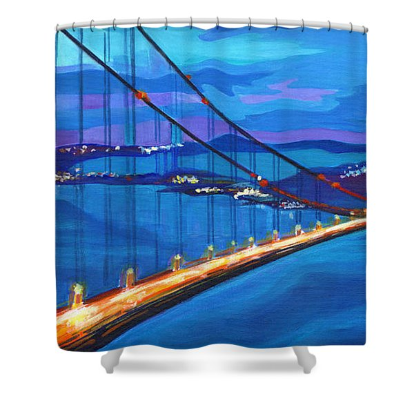 San Francisco Bay Blues  Shower Curtain