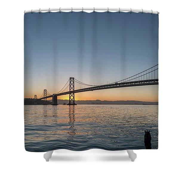 San Francisco Bay Brdige Just Before Sunrise Shower Curtain