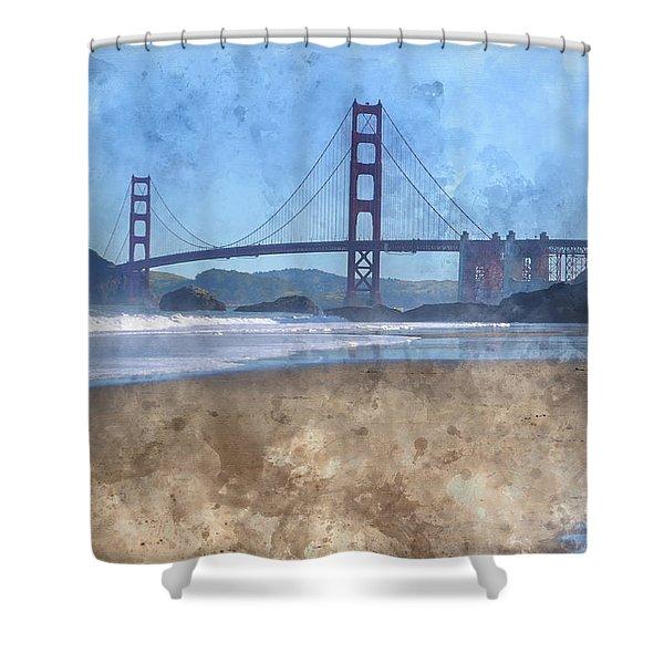 San Francisco Golden Gate Bridge In California Shower Curtain