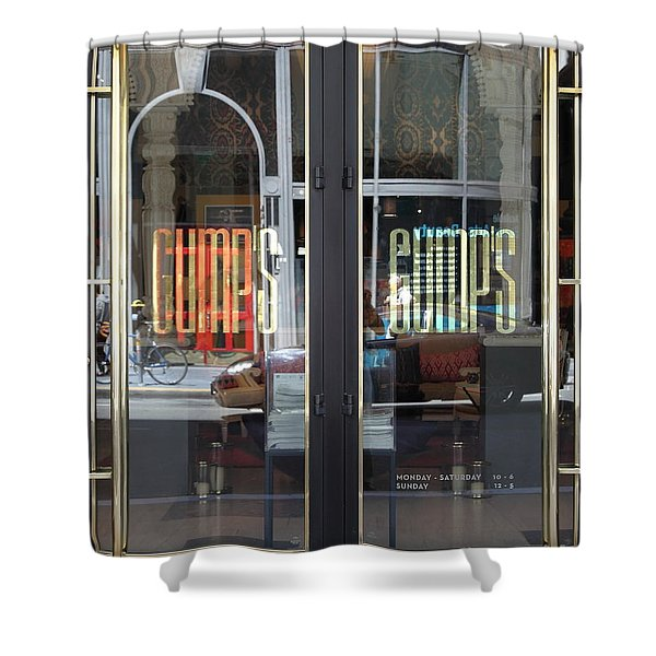 Shower Curtain featuring the photograph San Francisco Gumps Department Store Doors - Full Cut - 5d17094 by Wingsdomain Art and Photography