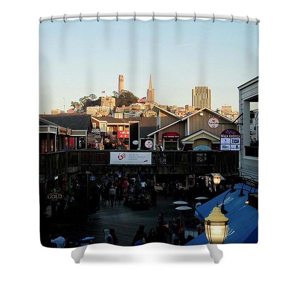 San Francisco In The Sun Shower Curtain