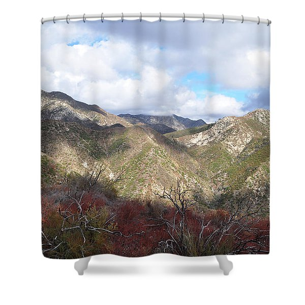 San Gabriel Mountains National Monument Shower Curtain