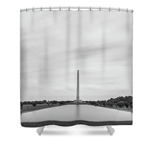 San Jacinto Monument Long Exposure Shower Curtain