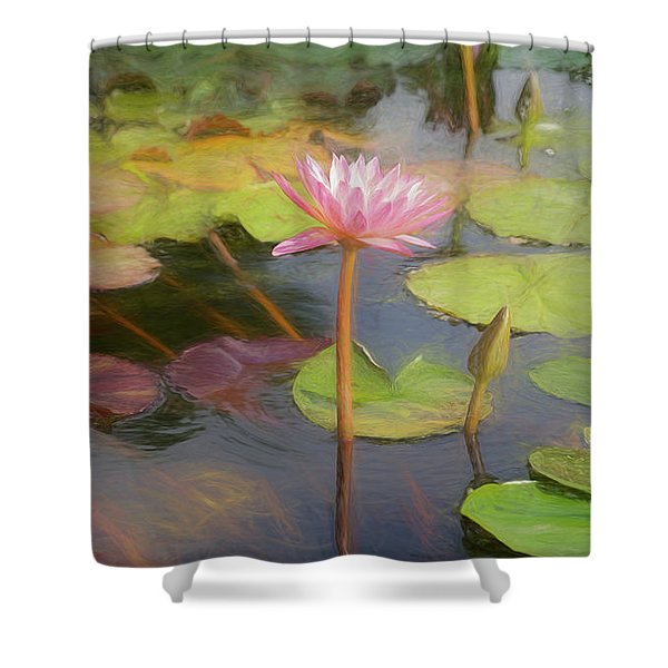 San Juan Capistrano Water Lilies Shower Curtain