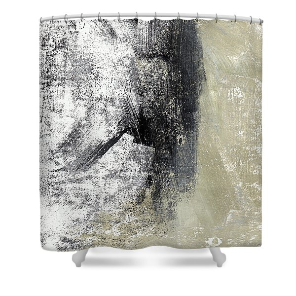 Sand And Steel- Abstract Art Shower Curtain