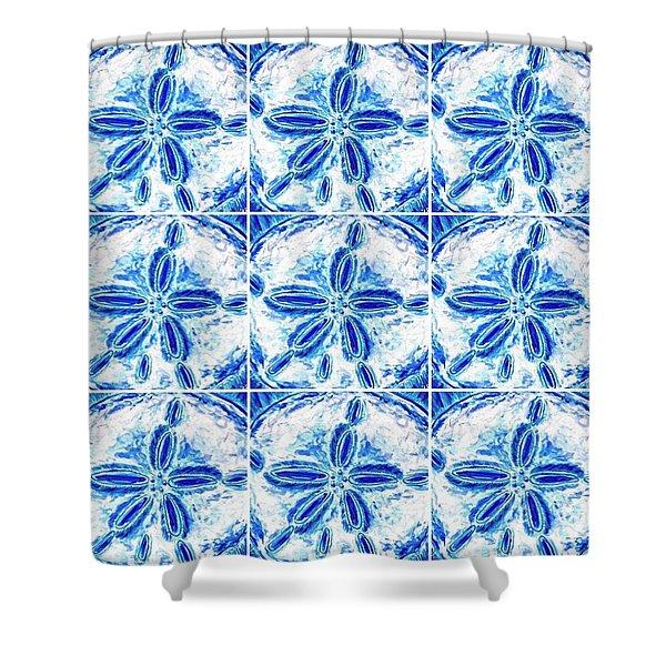 Sand Dollar Delight Pattern 3 Shower Curtain