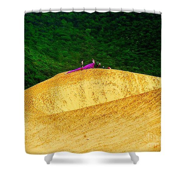 Sand Dune Fun Shower Curtain
