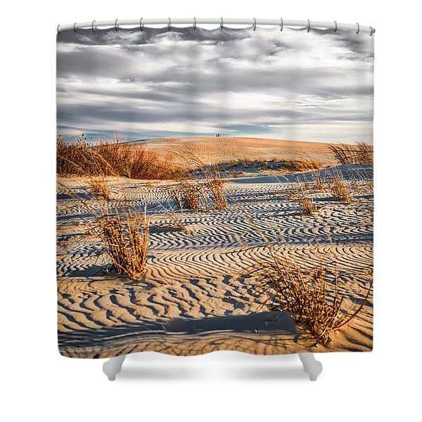 Sand Dune Wind Carvings Shower Curtain