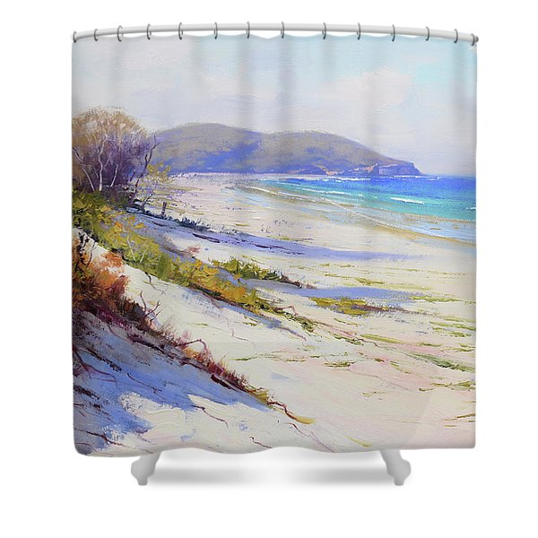 Sand Dunes Port Stephens Nsw Shower Curtain