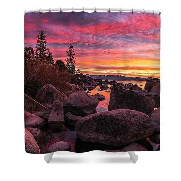 Sand Harbor Beach Shower Curtain