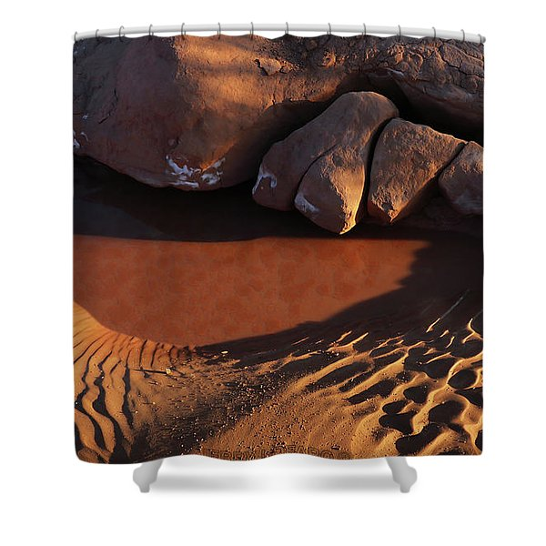 Sand Puddle Shower Curtain