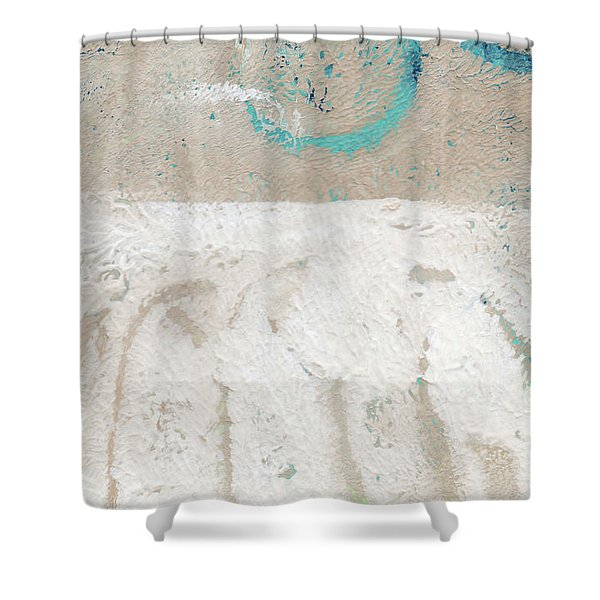 Sandcastles- Abstract Painting Shower Curtain