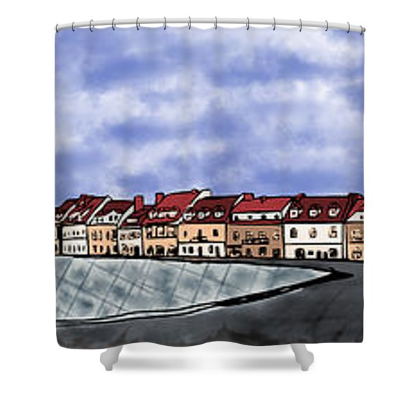 Sandomierz City Shower Curtain