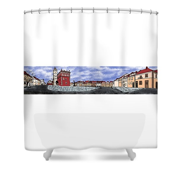 Sandomierz City Shower Curtain
