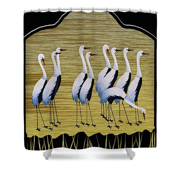 Sandpipers II Shower Curtain