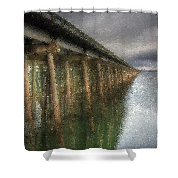 Sandpoint Longbridge  Shower Curtain