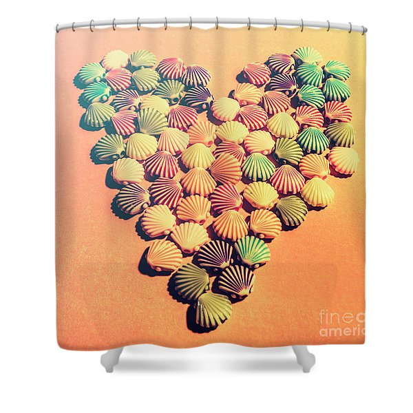 Sands Of Retro Love Shower Curtain