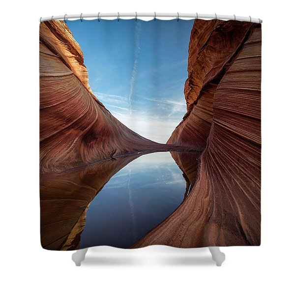 Sandstone And Sky Shower Curtain