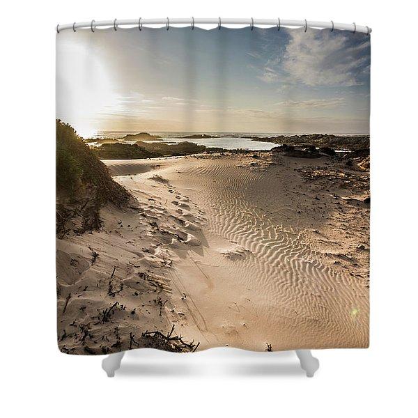 Sandy Beach Haven Shower Curtain