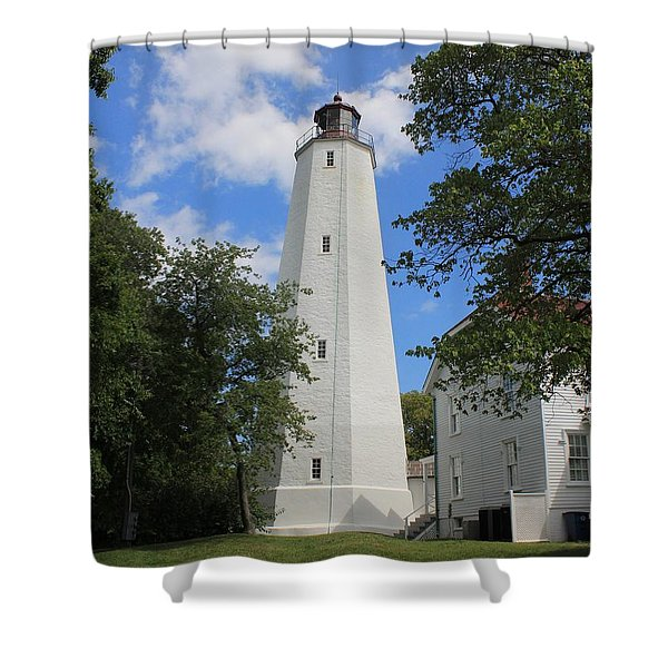 Sandy Hook Lighthouse Tower Shower Curtain