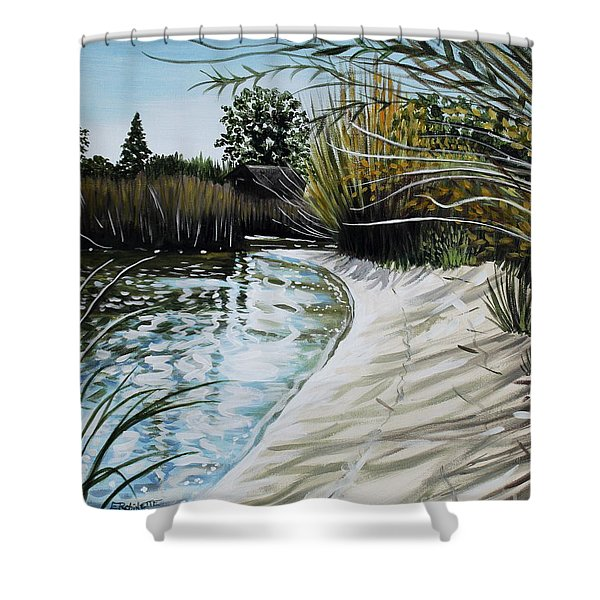 Sandy Reeds Shower Curtain