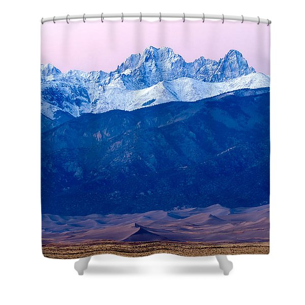 Sangre De Christo And The Great Sand Dunes National Park Shower Curtain
