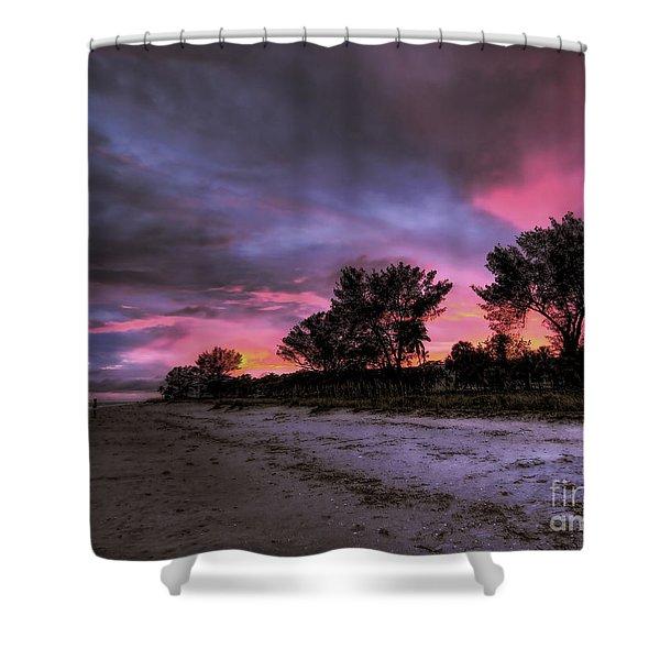 Sanibel Island Twilight Shower Curtain
