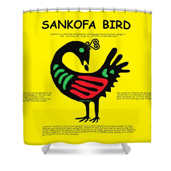 Sankofa Bird Of Knowledge Shower Curtain