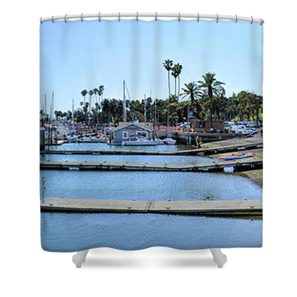 Santa Barbara Marina Shower Curtain