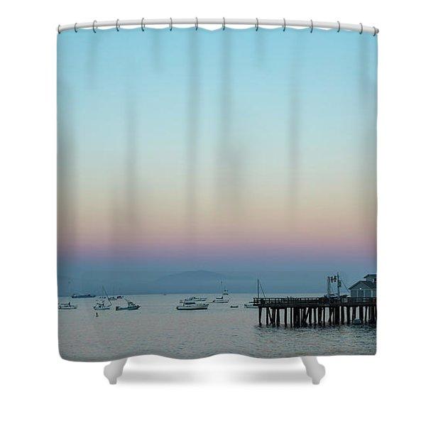 Santa Barbara Pier At Dusk Shower Curtain