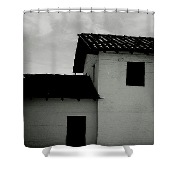 Santa Barbara Presidio 3- Art By Linda Woods Shower Curtain