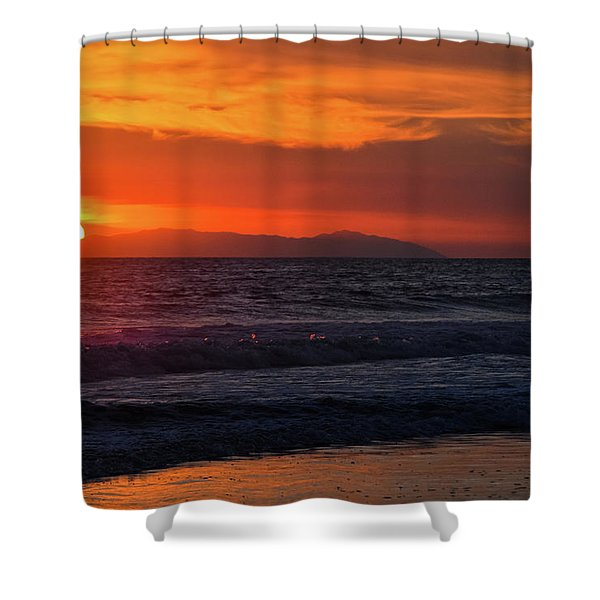 Santa Catalina Island Sunset Shower Curtain