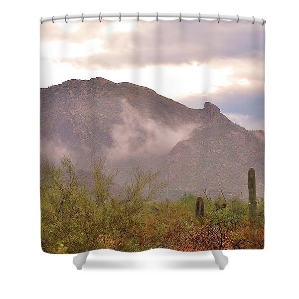 Santa Catalina Mountains II Shower Curtain