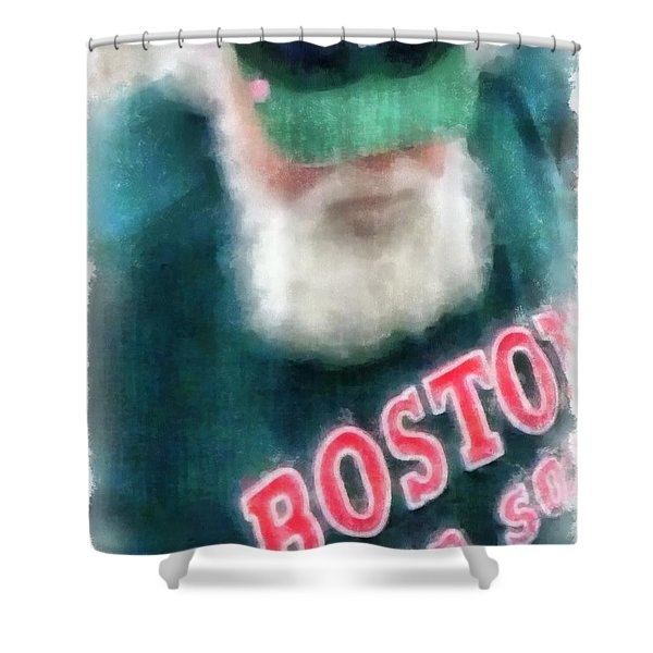 Santa Claus Spotted At Spring Training Shower Curtain