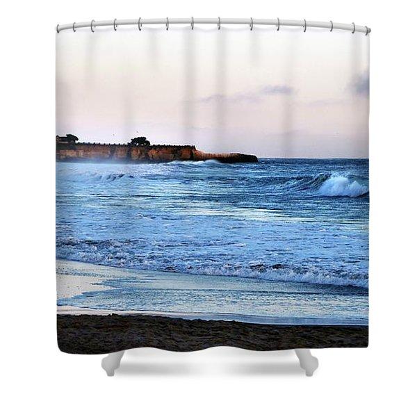 Santa Cruz Bay Waves Shower Curtain
