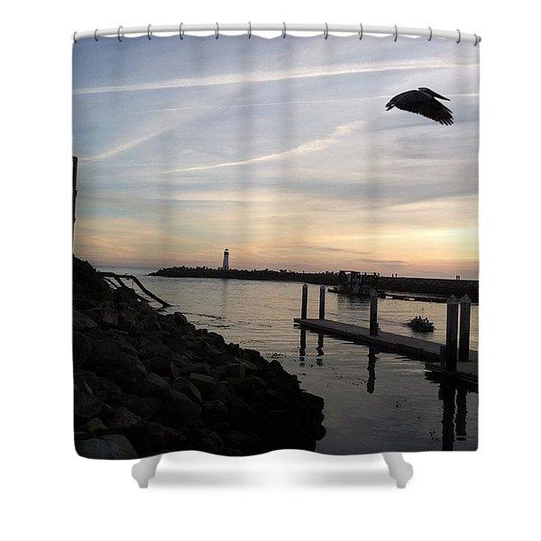 Santa Cruz Evening Shower Curtain