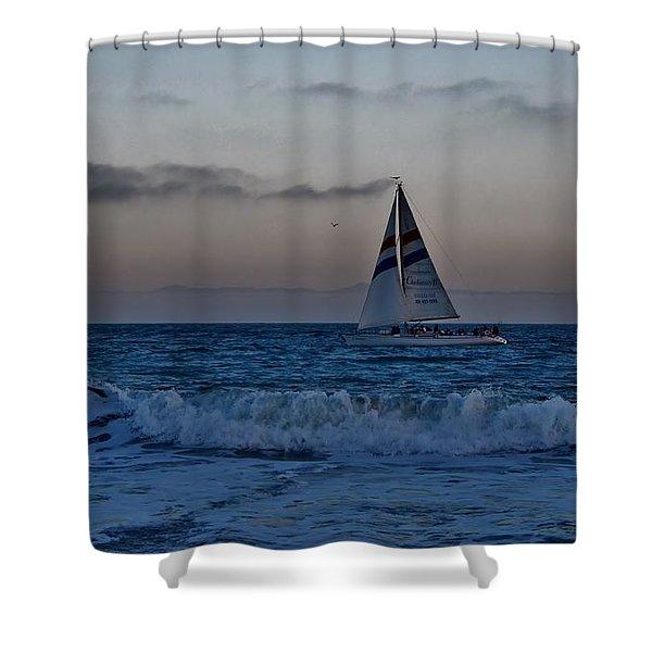Santa Cruz Sail Shower Curtain